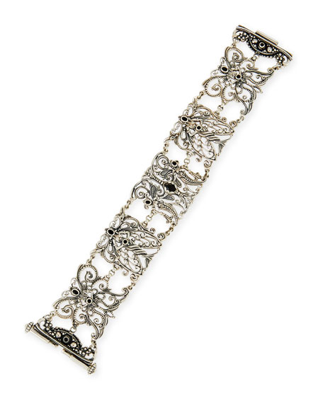Sterling Silver & Black Spinel Bracelet