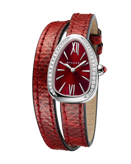 BVLGARI Serpent Twist Steel Snakeskin Wrap Watch with