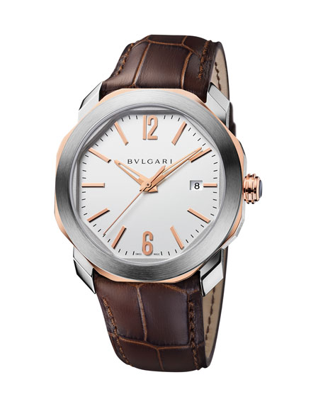 BVLGARI 41mm Octo Roma Bracelet Watch
