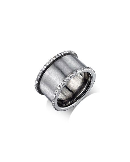 Diamond Cylinder Ring, Size 6.5