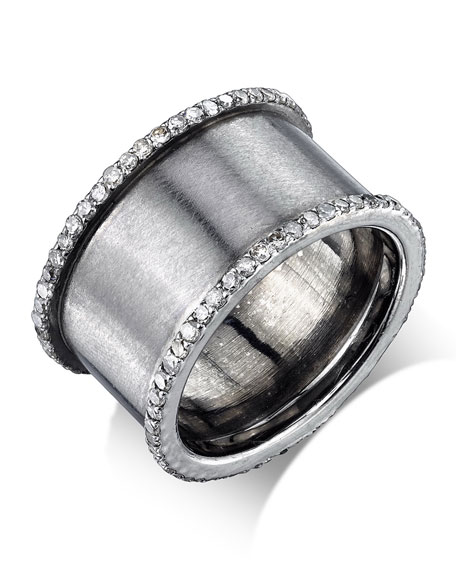 Diamond Cylinder Ring, Size 7