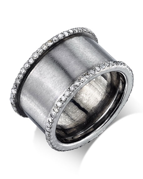 Sheryl Lowe Diamond Cylinder Ring, Size 7