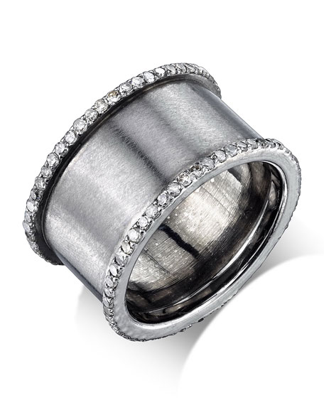 Diamond Cylinder Ring, Size 8.5