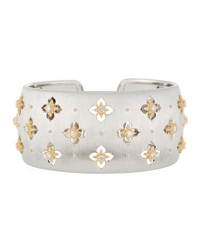 Macri Giglio Cuff Bracelet with Diamonds