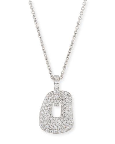 Puzzle Diamond Pendant Necklace in 18K White Gold