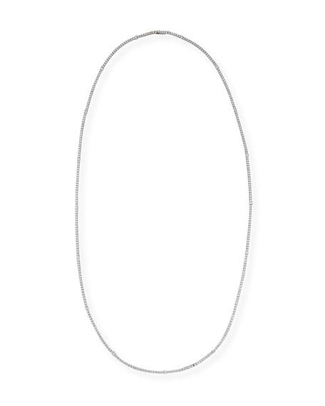 "Diamond Riviera Necklace in 18K White Gold, 16"""