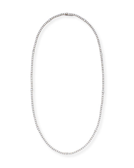 A. Link Diamond Riviera Necklace in 18K White