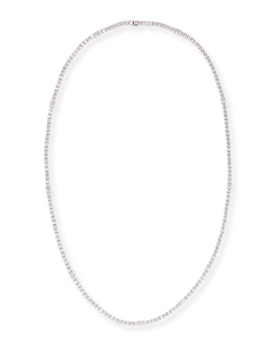 White Diamond Link Necklace in 18K White Gold, 7.33 tdcw