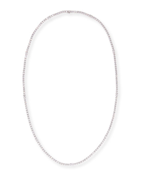 A. Link White Diamond Link Necklace in 18K