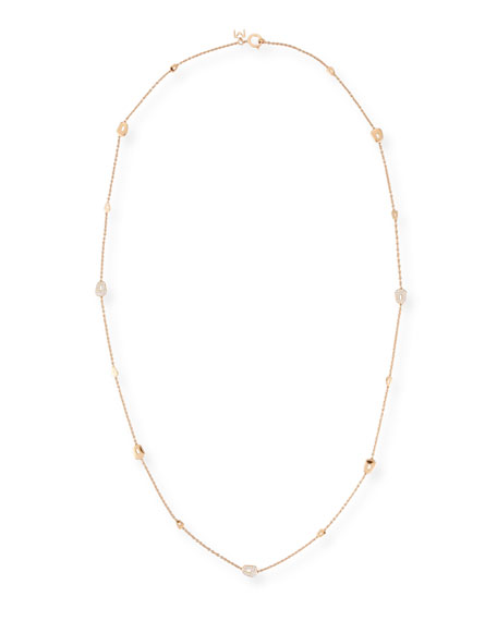 Puzzle 18K Rose Gold Necklace with Diamonds