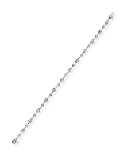 Fancy Brilliant-Cut Diamond Station Bracelet