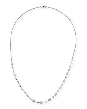 7731e7bfb74 Memoire Vintage Petal Brilliant-Cut Diamond Necklace