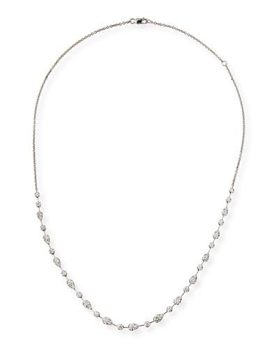 Fancy Brilliant-Cut Diamond Station Necklace