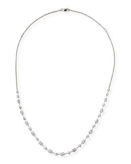 Vintage Petal Brilliant-Cut Diamond Necklace