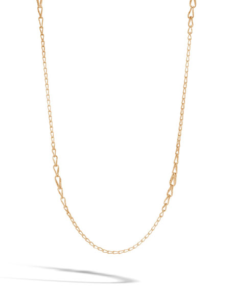 18k Bamboo Graduated Link Necklace, 36""