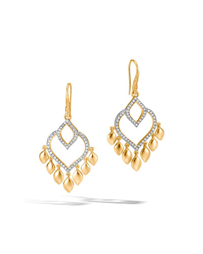Legends Naga Chandelier Earrings with Diamonds