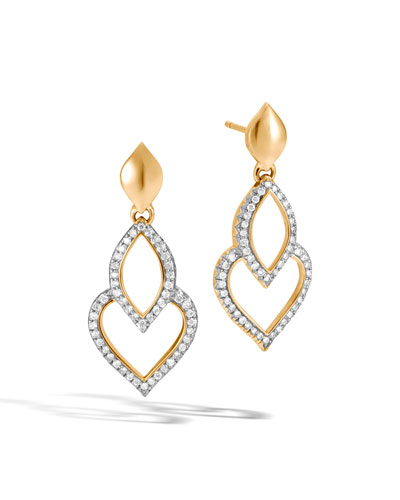 Legends Naga 18K Gold Earrings with Diamonds