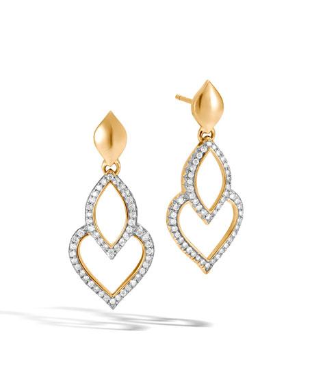 Legends Naga 18K Gold Earrings with Diamonds