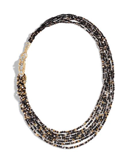 Legends Naga Beaded Necklace with Diamonds