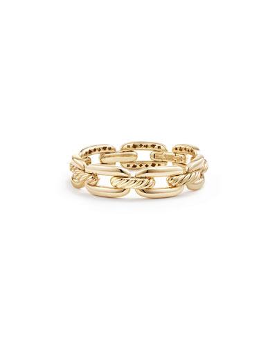 Wellesley 14mm 18k Gold Chain Bracelet, Size L