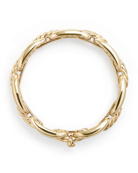 Wellesley 14mm 18k Gold Chain Bracelet, Size M