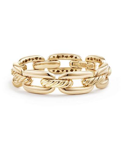 Wellesley 14mm 18k Gold Chain Bracelet, Size M