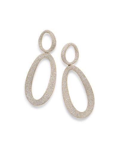 Cherish 18K Gold Large Snowman Earrings with Diamonds