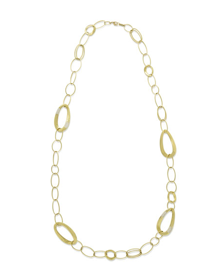 18K Glamazon Cherish Chain Necklace with Diamond Accent, 40""