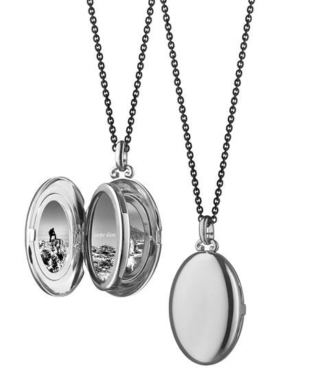 """Silver Midi 4-Image Locket Necklace, 32"""""""