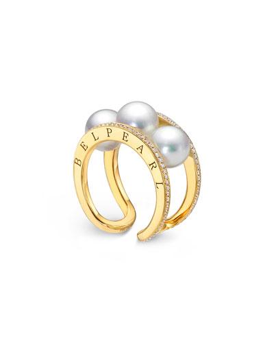 Kobe Tre Pearl & Diamond Ring