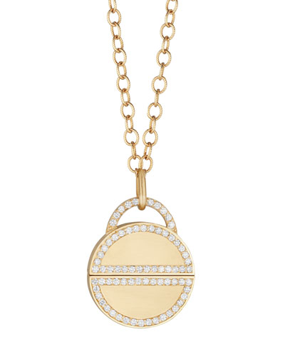 Disco Dots Diamond Twist Pendant Necklace