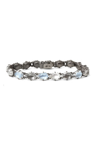 Larkspur & Hawk Caterina Tennis Bracelet in Dove Foil