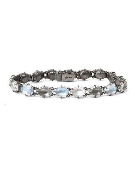Caterina Tennis Bracelet in Dove Foil