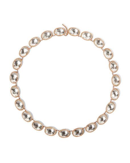 Lily Riviere Necklace in White Foil