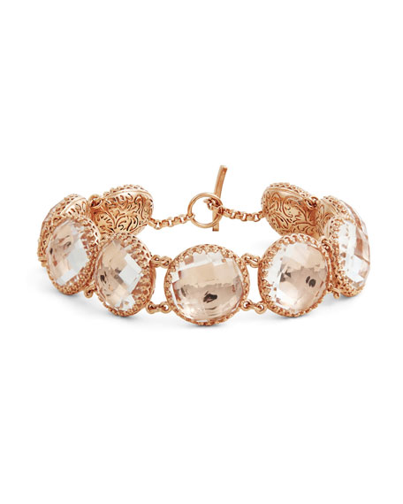 Olivia Button Bracelet in Copper Foil