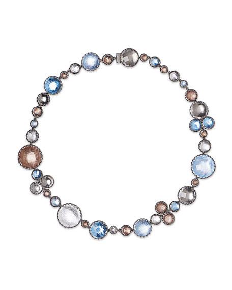 Sadie Bubble Riviere Necklace in Multi-Riverstone Foil