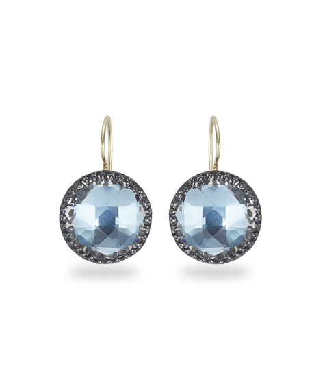 Olivia Topaz Drop Earrings with Sky Foil
