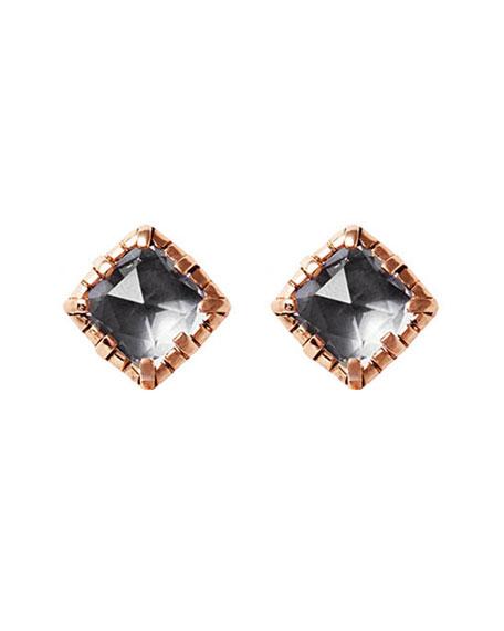 Bella Stud Earrings in Gray Foil