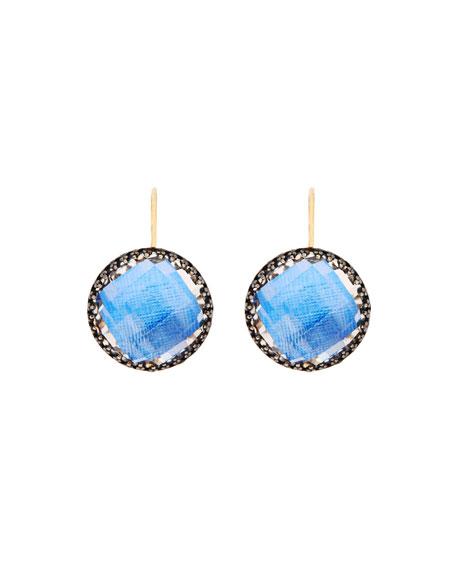 Olivia Topaz Drop Earrings with Azure Foil