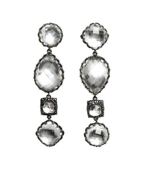 Larkspur & Hawk Sadie Four-Drop Earrings in White Foil GVzmyuoVy6