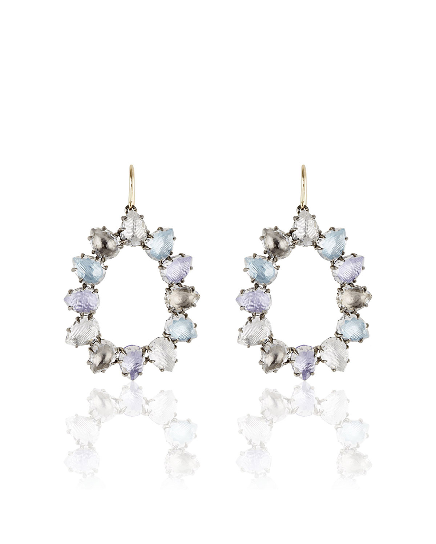Larkspur & Hawk Caterina Open Frame Earrings in Multi-Hydrangea Foil PnoD98wehx