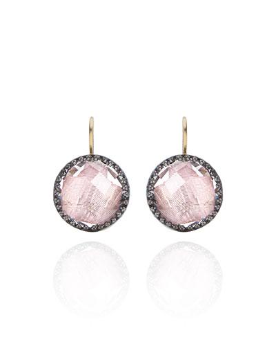 Olivia Topaz Drop Earrings with Ballet Foil