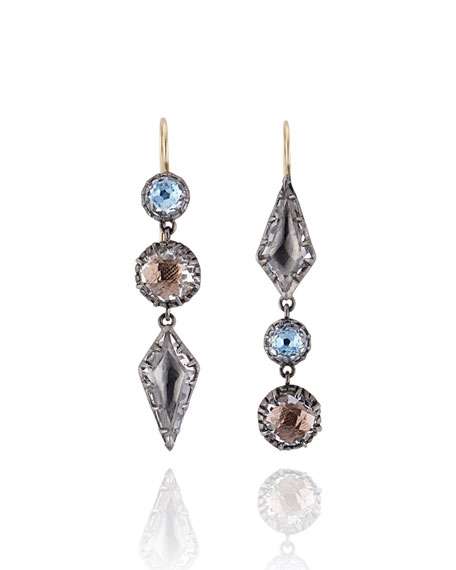 Larkspur & Hawk Sadie Triple-Drop Earrings with Gray Foil xt5h0bXYM