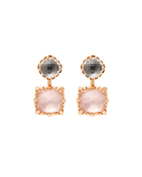 Sadie 18K Rose Gold-Washed Earrings in Gray & Ballet Foil