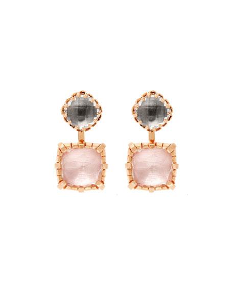 Sadie 18K Rose Gold-Washed Earrings in Gray & Ballet Foil