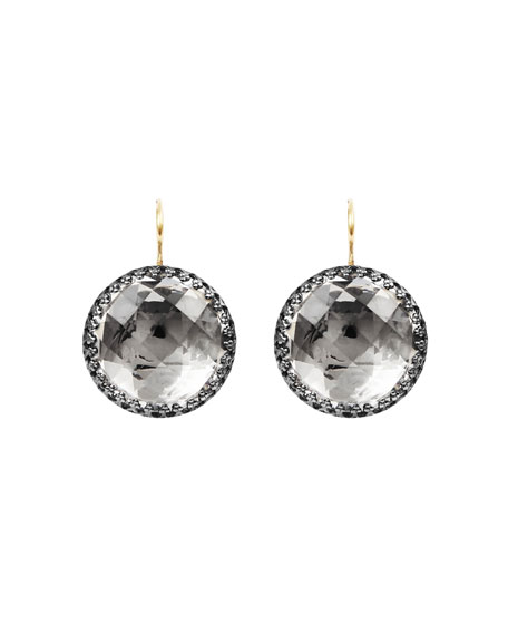 Olivia Black Rhodium-Washed Earrings in Dove Foil