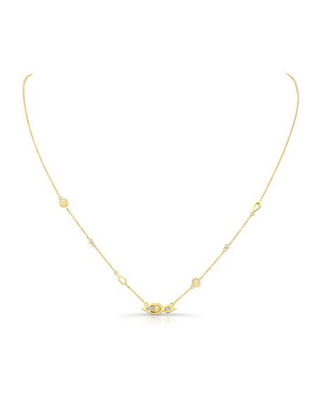 Diamond & Opal Pendant Necklace