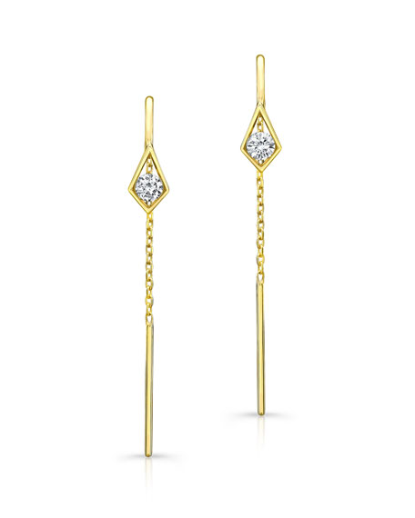 Diamond Threader Chain Earrings