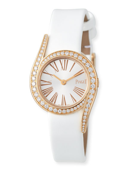 26mm Limelight Gala 18K Rose Gold Watch with Diamonds, White