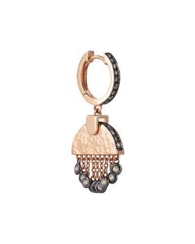 Le Soleil Champagne Diamond Single Hoop Earring
